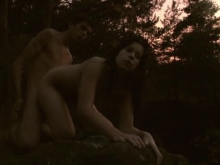 See the way legal age teenager sex scene takes place in outdoor environment