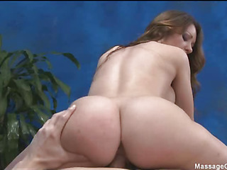 Fascinating babe loves massage and big cock  in her pussy